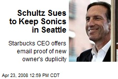 Schultz Sues to Keep Sonics in Seattle