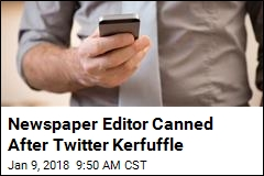 Newspaper Editor Canned After Twitter Kerfuffle