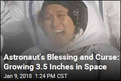 Astronaut's Blessing and Curse: Growing 3.5 Inches in Space