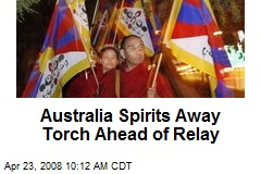 Australia Spirits Away Torch Ahead of Relay