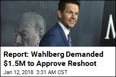 Report: Wahlberg Demanded $1.5 M to Approve Reshoot