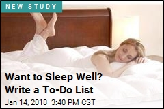 Writing a To-Do List May Be the Key to a Good Night's Rest