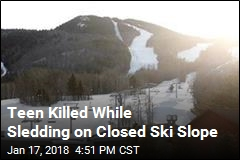 Teen Killed While Sledding on Closed Ski Slope