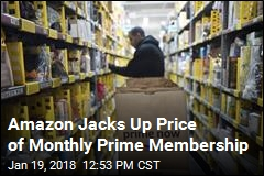 Amazon Jacks Up Price of Monthly Prime Membership