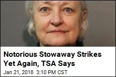 Notorious Stowaway Strikes Yet Again, TSA Says