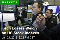Tech Losses Weigh on US Stock Indexes