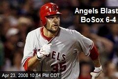 Angels Blast BoSox 6-4