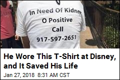 Man in Need of Kidney Wore This T-Shirt. It Worked