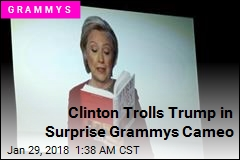Clinton Trolls Trump in Surprise Grammys Cameo