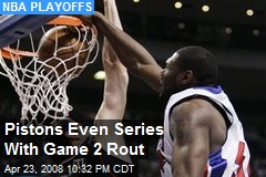 Pistons Even Series With Game 2 Rout