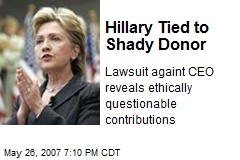 Hillary Tied to Shady Donor