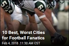 10 Best, Worst Cities for Football Fanatics