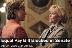 Equal Pay Bill Blocked in Senate