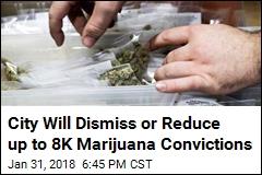 City Will Dismiss or Reduce up to 8K Marijuana Convictions