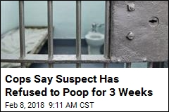 Police Tweet Updates on Man Who Hasn't Pooped in 21 Days