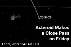 3rd Asteroid This Week Zips Close on Friday