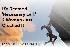 2 Women Conquer Rock-Climbing Monster