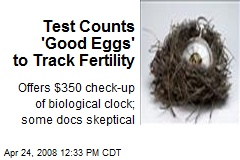 Test Counts 'Good Eggs' to Track Fertility