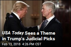 USA Today Sees a Theme in Trump's Judicial Picks