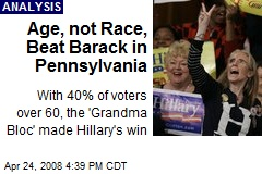 Age, not Race, Beat Barack in Pennsylvania