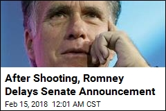 After Shooting, Romney Delays Senate Announcement