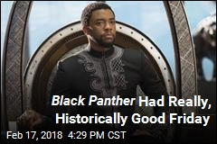 Black Panther Had Really, Historically Good Friday
