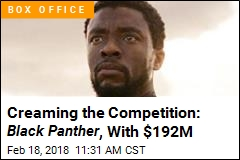 Creaming the Competition: Black Panther , With $192M
