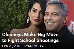 Clooneys Make Big Move to Fight School Shootings