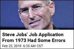 Up for Grabs: Steve Jobs' Typo-Filled Job Application