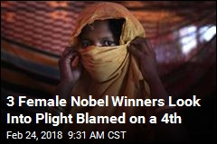 3 Female Nobel Winners Look Into Plight Blamed on a 4th