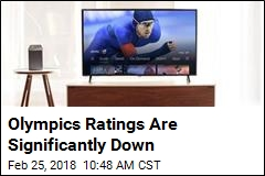 Olympics Ratings Are Significantly Down