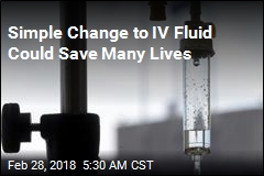 Using Different IV Fluid Could Save 70K Lives a Year