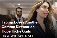 Hope Hicks Is Resigning From White House
