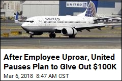 United Airlines Quickly Pauses Plan to Give One Worker $100K