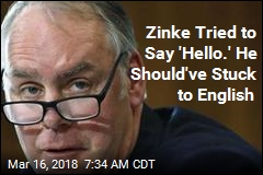 "Zinke Called 'Juvenile"" for Chipper Greeting"