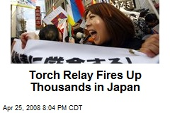 Torch Relay Fires Up Thousands in Japan