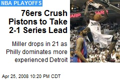 76ers Crush Pistons to Take 2-1 Series Lead
