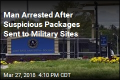 Man Suspected of Sending Suspicious Packages to Military Sites Arrested