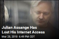 Julian Assange Has Lost His Internet Access