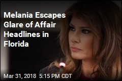 Melania Escapes Glare of Affair Headlines in Florida