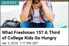 What Freshman 15? A Third of College Kids Go Hungry