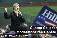 Clinton Calls for Moderator-Free Debate