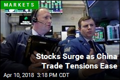 Stocks Surge as China Trade Tensions Ease