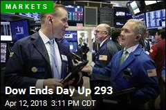 Dow Ends Day Up 293