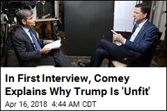 Comey Slams Trump in First Interview Since Firing