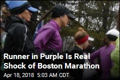 Runner in Purple Is Real Shock of Boston Marathon