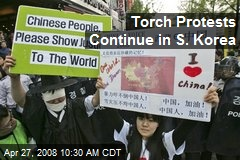 Torch Protests Continue in S. Korea