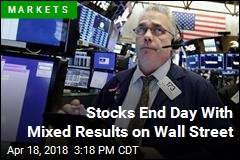 Stocks End Day With Mixed Results on Wall Street