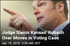 Judge Slams Kansas' Kobach Over Moves in Voting Case