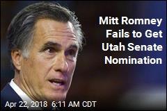 Mitt Romney Fails to Get Utah Senate Nomination